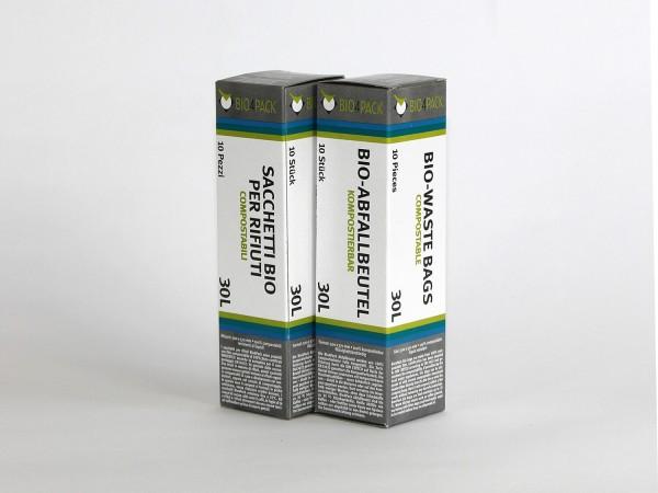 Bio4Pack Müllbeutel 100% kompostierbar, 30 Liter, 40 Stück