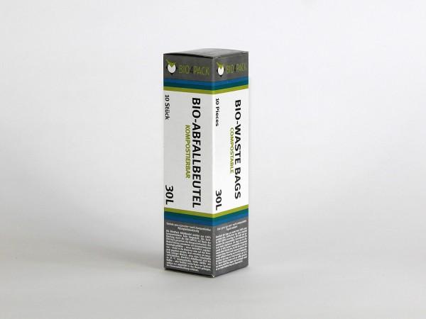 Bio4Pack Müllbeutel 100% kompostierbar, 30 Liter, 10 Stück