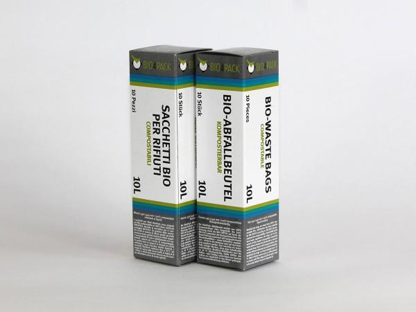 Bio4Pack Müllbeutel 100% kompostierbar, 10 Liter, 100 Stück