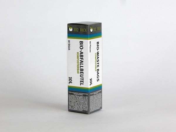 Bio4Pack Müllbeutel 100% kompostierbar, 10 Liter, 10 Stück